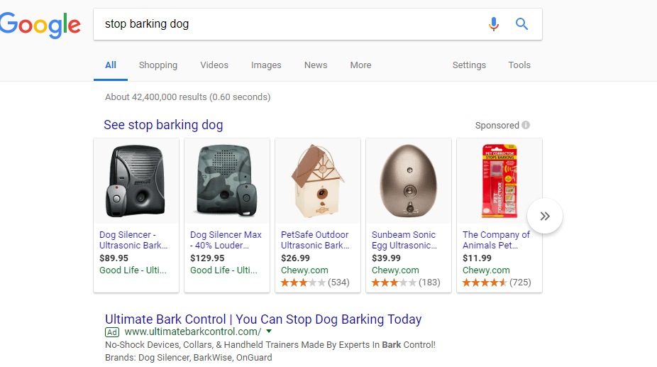 bark control search