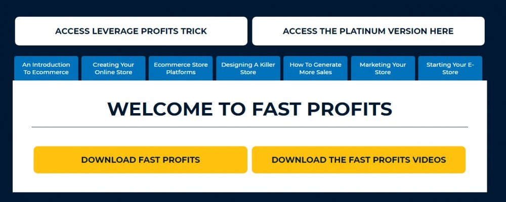 Fast profits online members area